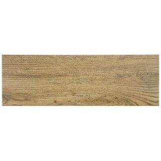 SomerTile Wood Look Sava Oro Porcelain Floor and Wall Tile 6x18-in (Case of 16)