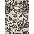 Alliyah Vanilla Ice Floral Handmade New Zealand Wool Rug (5'x8')