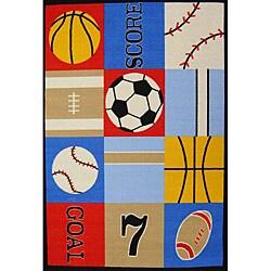 Kids' Non-Skid Sports Rug (3'3 x 4'7)