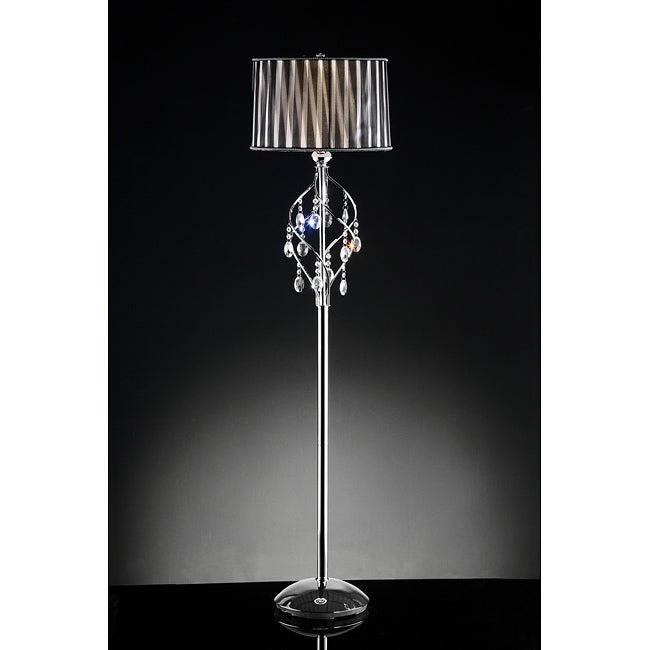 chrome crystal floor lamp overstock shopping great deals on. Black Bedroom Furniture Sets. Home Design Ideas