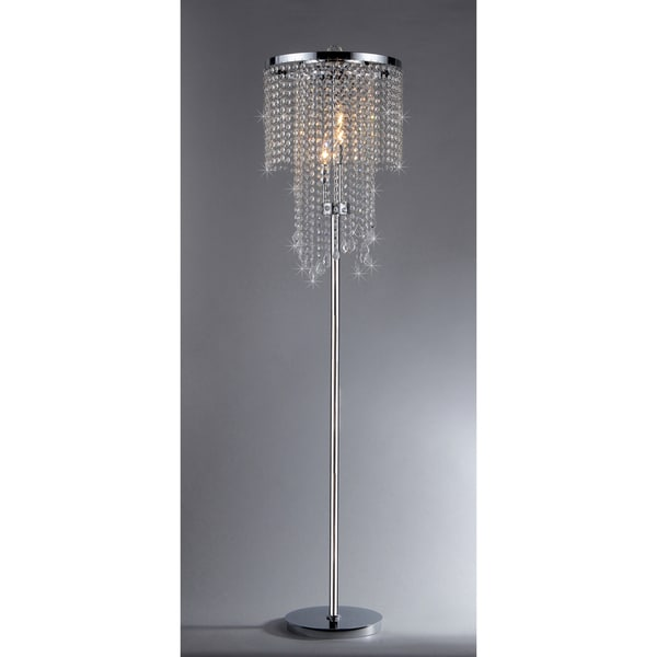 chrome and crystal floor lamp 14284760 shopping. Black Bedroom Furniture Sets. Home Design Ideas