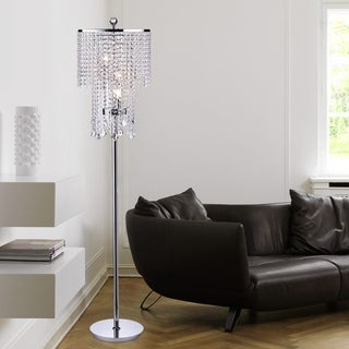 Chrome and Crystal Floor Lamp