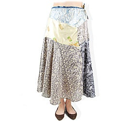 Recycled Silk Saree Skirt (Nepal)