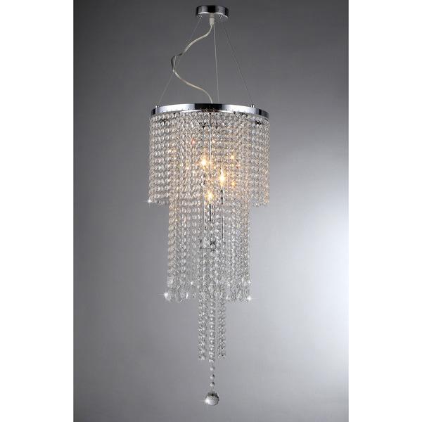 Cascading crystal chandelier