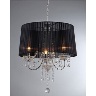 Crystal Black Silk Chandelier
