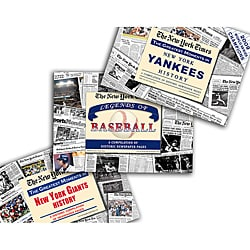 Collectible Newspaper Giants History, Yankees History, and The Legends of Baseball Gift Set