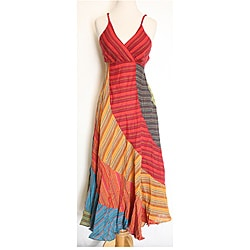 Block Stripped Umbrella Dress (Nepal)
