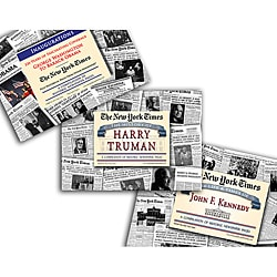 Collectible Newspaper Presidential Inaugurations, Truman, and Kennedy Newspapers Gift Set