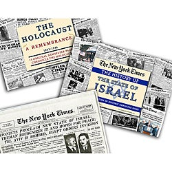 Collectible Newspaper History of Israel, Israeli Statehood, Holocaust Newspapers Gift Set