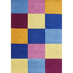 Me & Mom Colorblock Hand-Tufted New Zealand Wool Blend Rug (5'x8')
