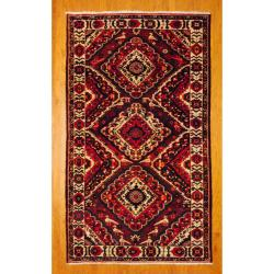 Persian Hand-knotted Tribal Bakhtiari Red/ Navy Wool Rug (5'9 x 9'10)