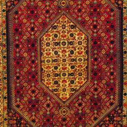 Persian Hand-knotted Tribal Bidjar Red/ Navy Wool Rug (5'3 x 8'1)
