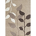 Metro Beige Latte New Zealand Wool Blend Rug (8' x 10')