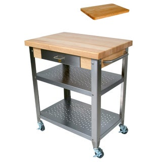 John Boos Cucina Elegante 30x20x35 Cart with Bonus Cutting Board