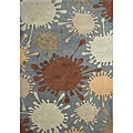 Alliyah Smoke Grey Hand-Tufted New Zealand Wool Rug (5'x8')