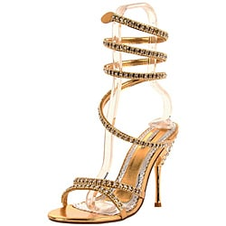 Celeste Women's 'Patricia-03' Gold Spiral Pump