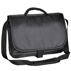 Everest Black 15-inch Padded Laptop Briefcase with Shoulder Strap