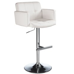 Sunpan Churchill Adjustable White Barstool