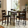 TRIBECCA HOME TRIBECCA Burnished Brown 5-piece Counter Height Set