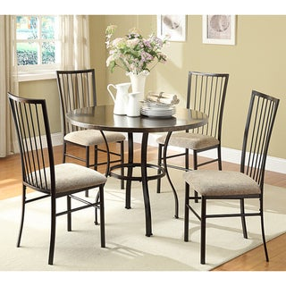Rarwen 5-piece Coffee Faux Marble Dining Set