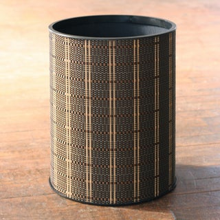1530 LaMont Home 'Barton' Black/Brown Round Wastebasket
