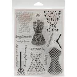 Stamping Scrapping Spellbinders Matching Clear Stamps-All Dolled Up
