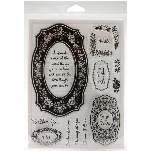 Stamping Scrapping Spellbinders Matching Clear Stamps-Floral Friendship