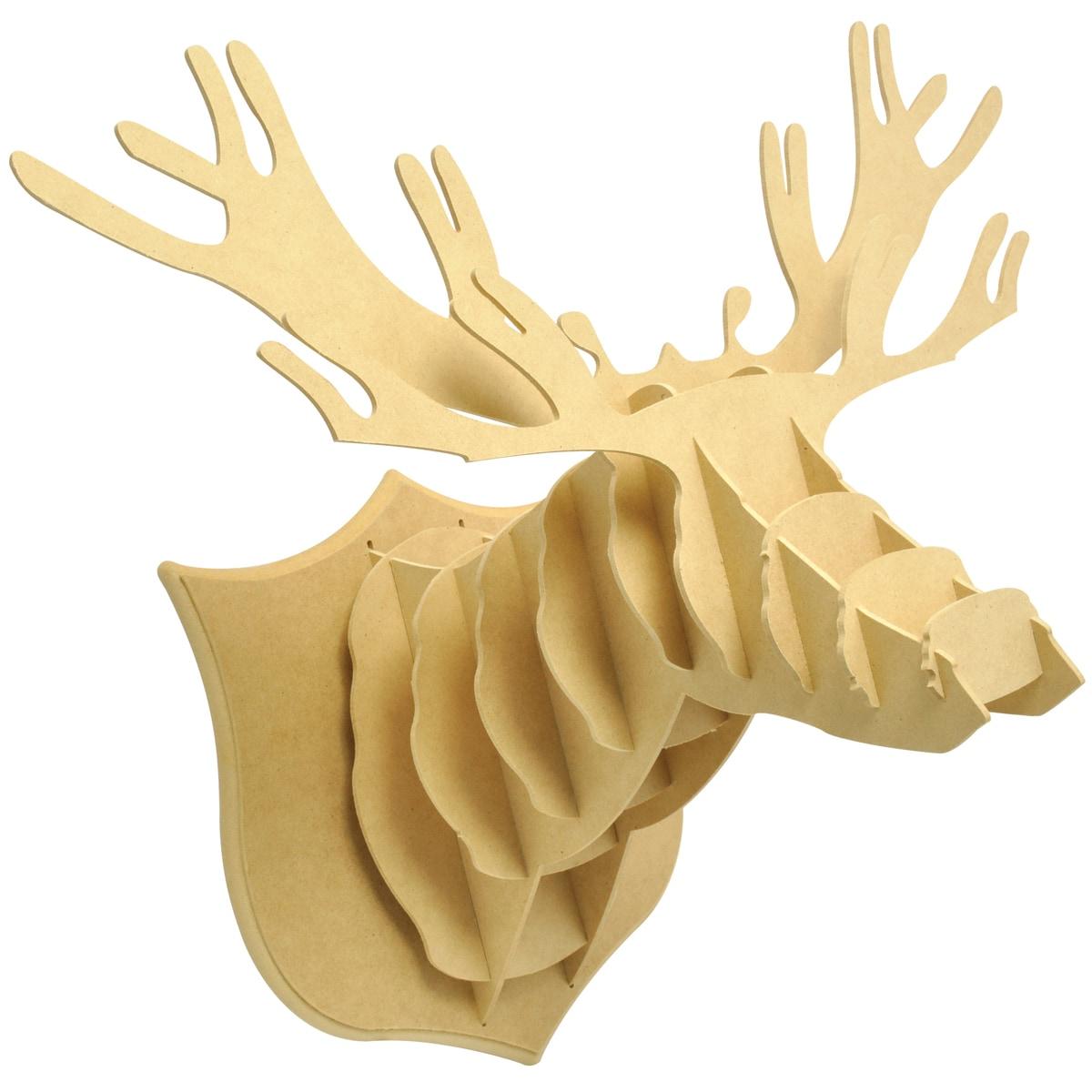 Beyond The Page MDF Dimensional Deer Head