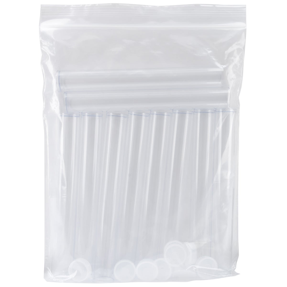 """Clear Tall Round Craft Tube 8"""" 10/Pkg"""
