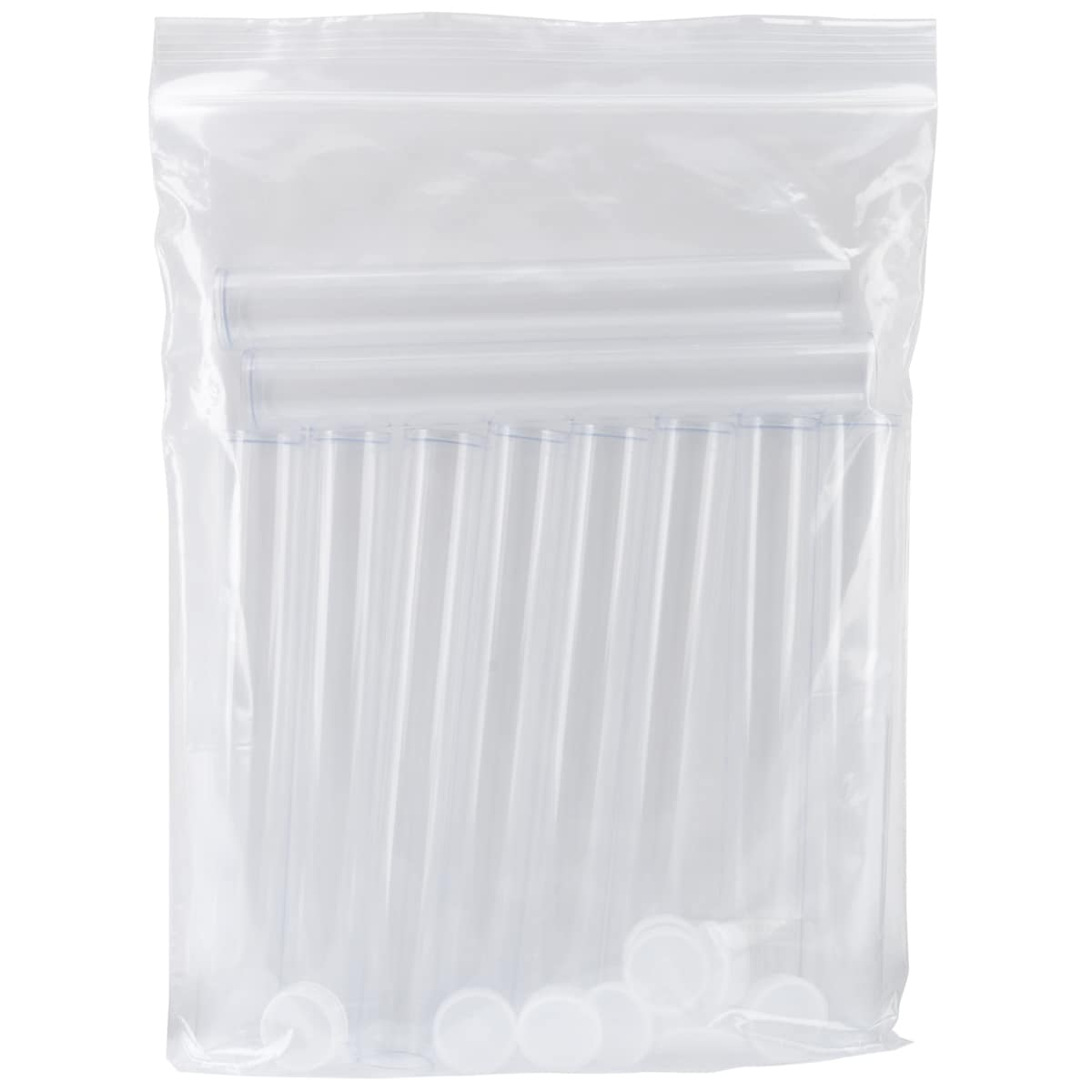 http://www.overstock.com/Crafts-Sewing/Clear-Tall-Round-Craft-Tube-8-10-Pkg/6740114/product.html?searchidx=1