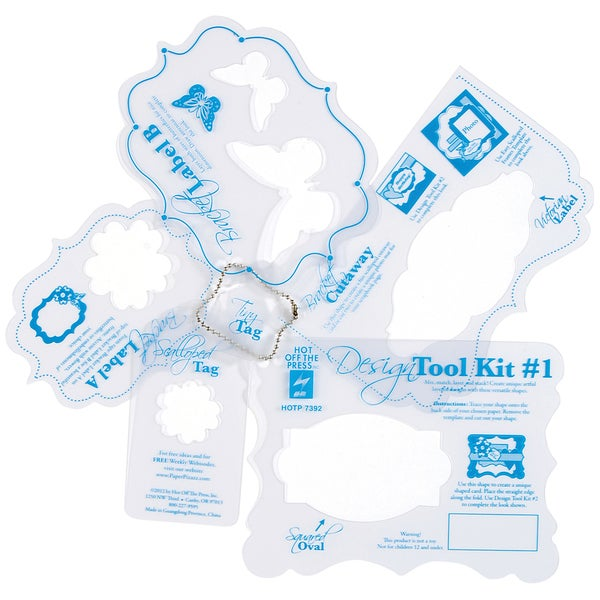 Hot Off The Press Templates 12X12IN-Design Tool Kit #1