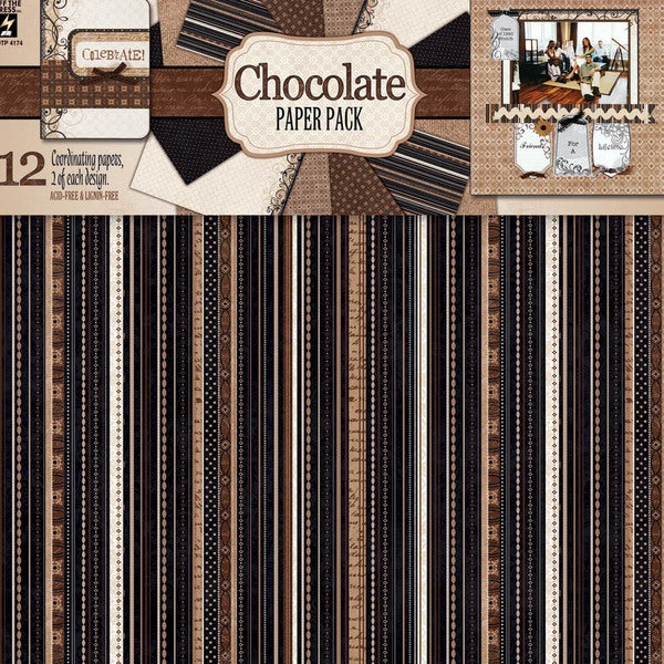 Paper Pack 12X12IN-Chocolate