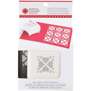 Martha Stewart Punch All Over The Page Pattern Punch-Heart Clover