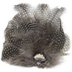 Laliberi Quick Clip Flowers 1/Pkg-Feather Drop Gray