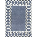 Hand-tufted World Classic Bluish-grey Wool Rug (5' x 8')
