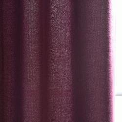Grape Cotenza Faux Cotton Grommet Curtain Panel