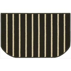 Nourison Essentials Stripe Black Rug (2'6 x 1'7)