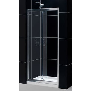 DreamLine Butterfly Frameless 34-35.5 x 72-inch Bi-Fold Shower Door