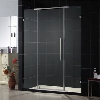 DreamLine Vitreo Frameless Pivot Shower Door with Brushed Nickel Finish