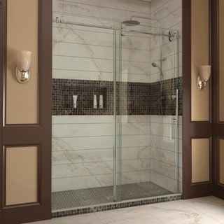 DreamLine Enigma 56-60x79-inch, 0.5-inch Glass, Fully Frameless Sliding Shower Door