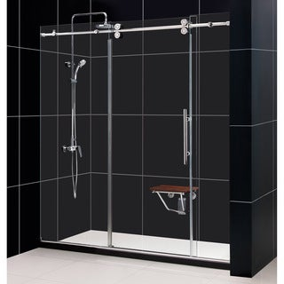 DreamLine Enigma 68-72x79-inch, 0.5-inch Glass, Fully Frameless Sliding Shower Door