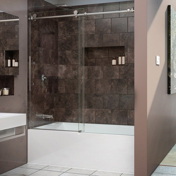 DreamLine Enigma-X 56 to 59 inches Frameless Sliding Tub Door