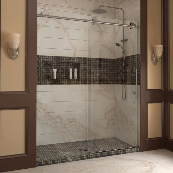 Frameless Sliding Shower Doors 600 x 600