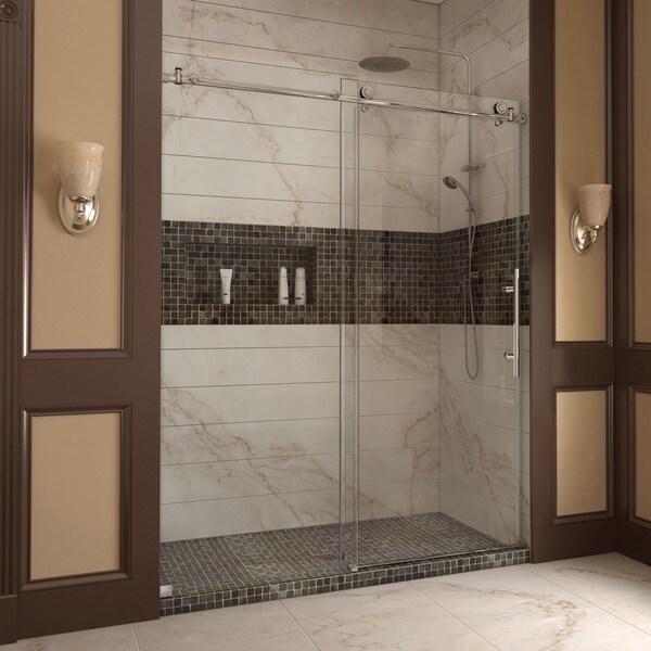 DreamLine Enigma-X 56-60x76-inch Fully Frameless Sliding Shower Door