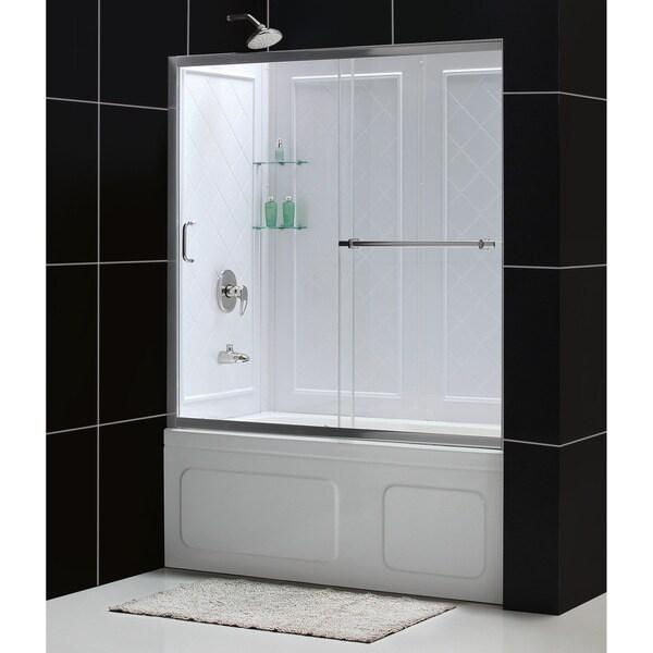 DreamLine Infinity Tub Door and Qwall-tub Backwall Bathtub Kit