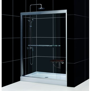 Duet Shower Door with Amazon 30x60-inch Base Tub To Shower Kit