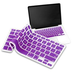 BasAcc Purple Silicone Keyboard Skin Shield for Apple MacBook Pro