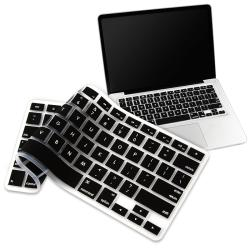BasAcc Black Silicone Keyboard Skin Shield for Apple MacBook Pro
