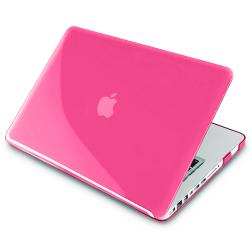 BasAcc Clear Pink Snap-on Case for Apple MacBook Pro 13-inch