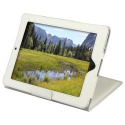 BasAcc White Leather Case with Stand for Apple iPad 1